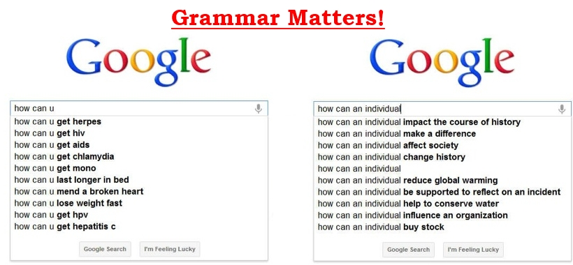 Google grammar